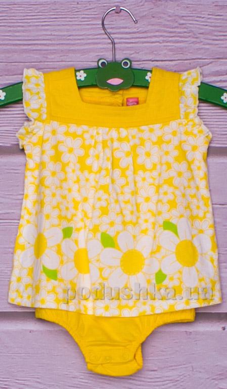 Боди-песочник Gloria Jeans 66267 желтое с цветочками