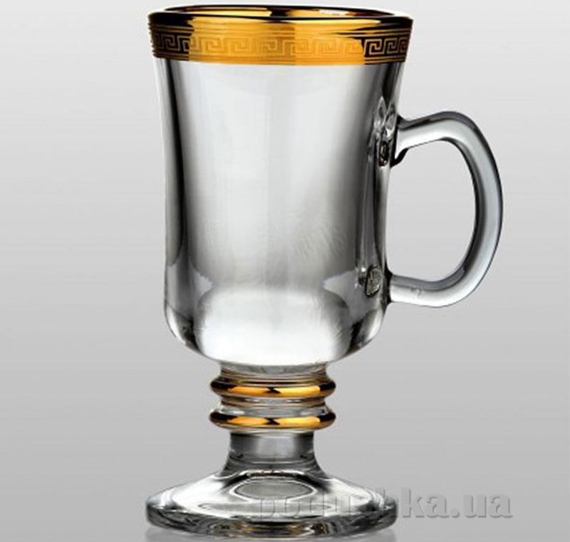 Бокал для глинтвейна Bohemia Sklo Venezia Kostka золото 35-18-250-1-001