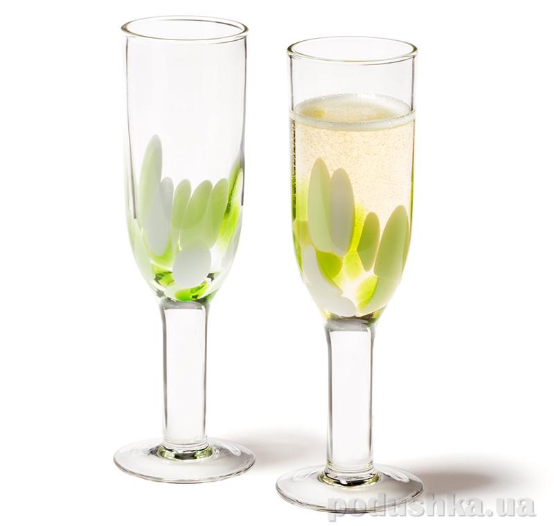 Бокал для шампанского Leonardo Dots green
