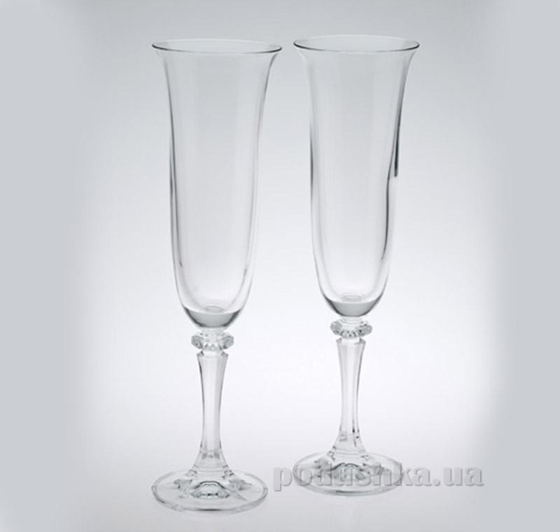 Бокали для шампанського Kleopatra 175 мл Bohemia