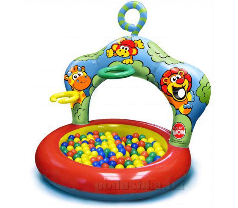 Большой бассейн Play WOW Джунгли с кольцами 3067PW