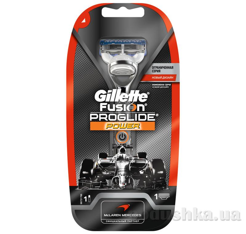 Бритва Gillette Fusion ProGlide Power McLaren design с 1 сменным картриджем