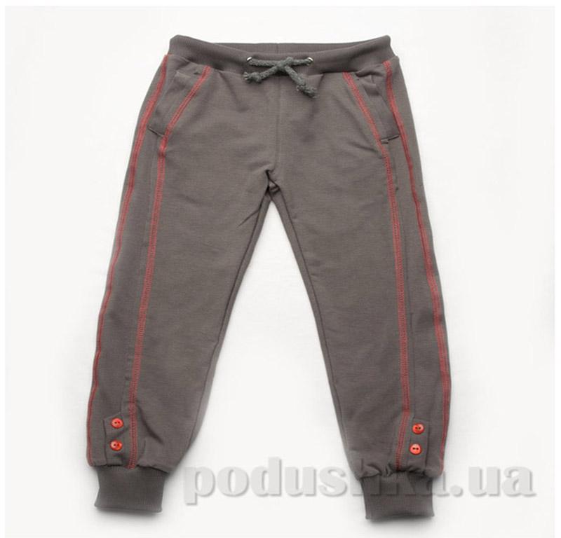 Брюки для девочек спортивные Модный карапуз 03-00570 коричневые