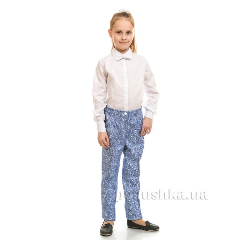 Брюки для девочки Жаккард Kids Couture 17-207 синие