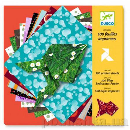 Бумага для оригами 100 шт Djeco DJ08763