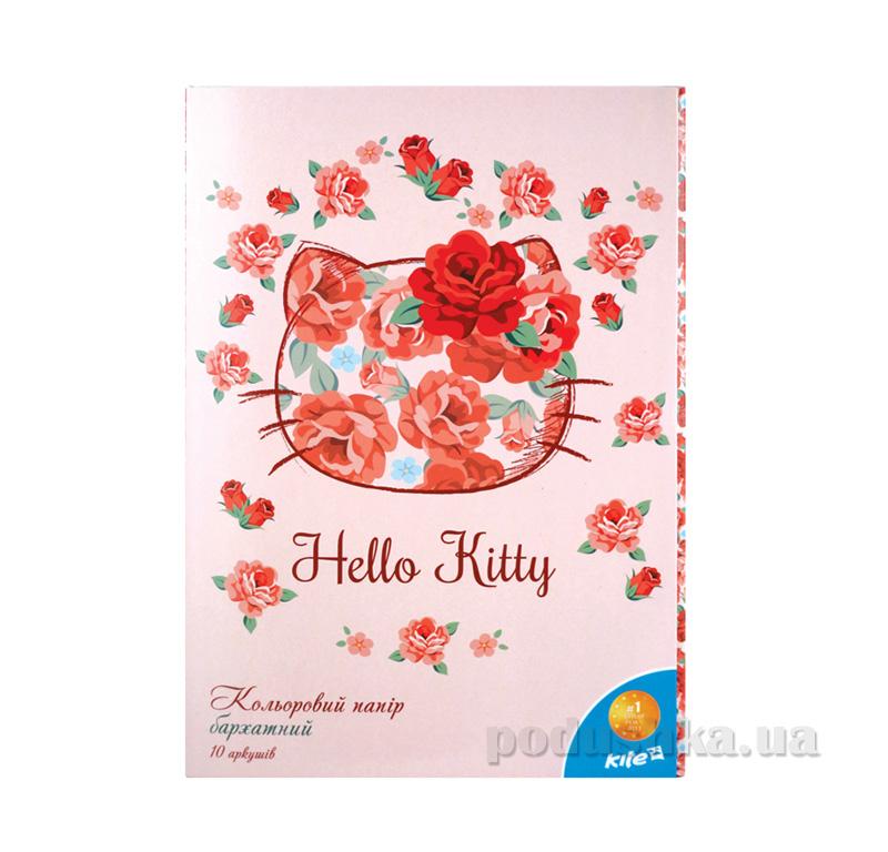 Бумага цветная бархатная Hello Kitty HK15-251K