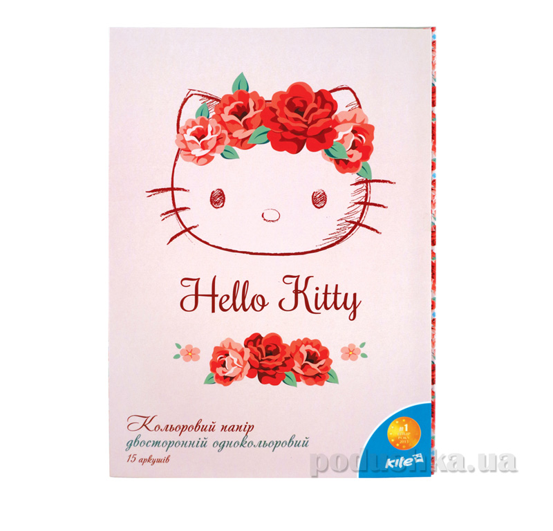 Бумага цветная двухсторонняя Hello Kitty HK15-250K