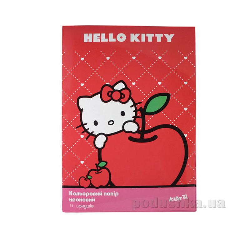 Бумага цветная неон Hello Kitty HK13-252K Kite