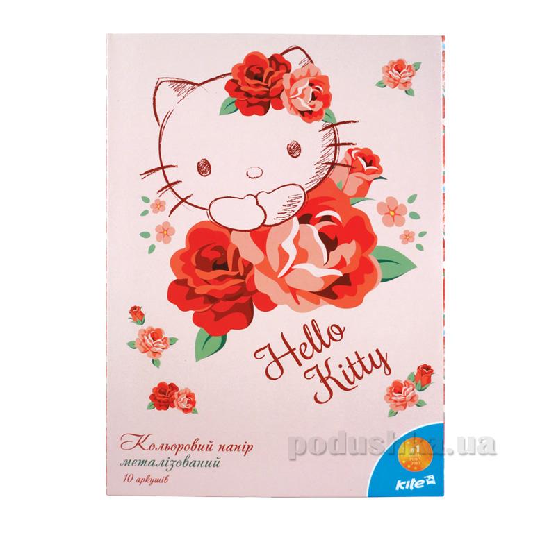 Бумага цветная метализированная Kite Hello Kitty HK15-253К