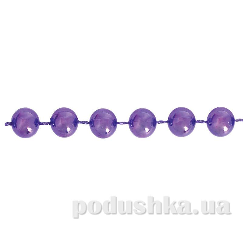 Бусы фиолетовые для декора Новогодько
