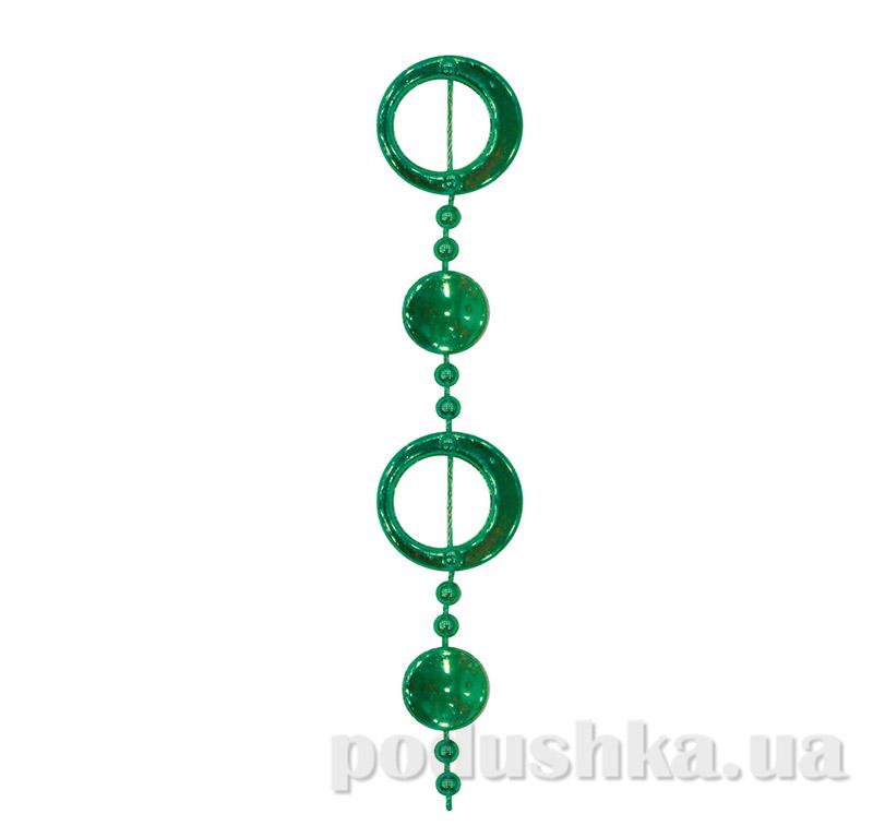 Бусы новогодние Колечки Новогодько 972121 зеленые