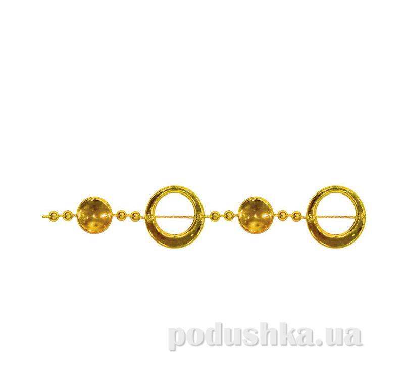 Бусы новогодние Колечки Новогодько 972122 золото