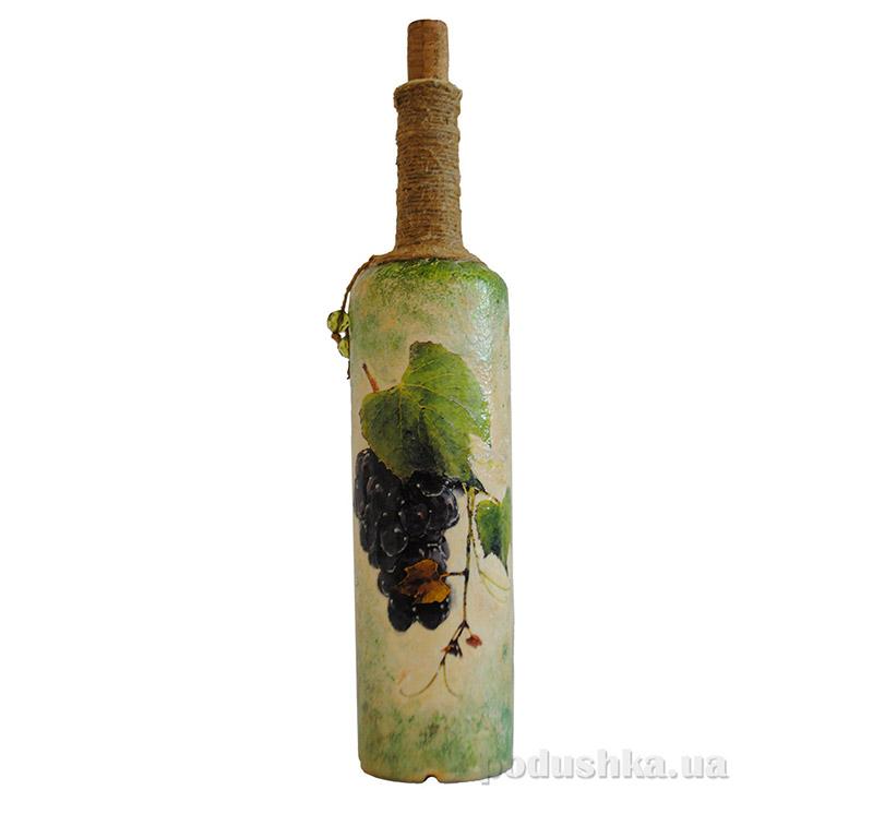 Бутылка Виноградная лоза - ручная роспись