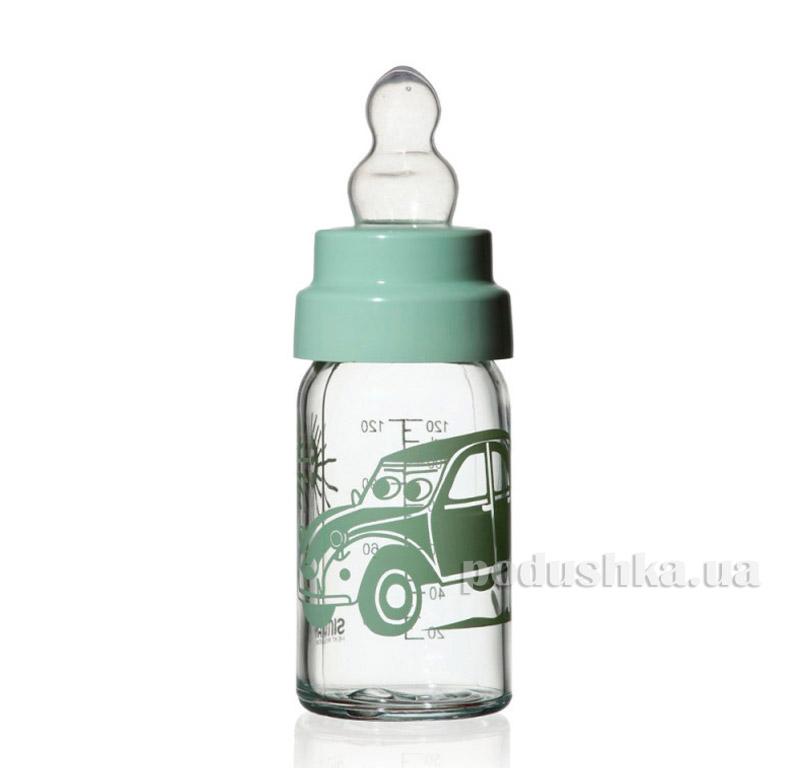 Бутылочка детская с соской 125 мл Simax Машинка