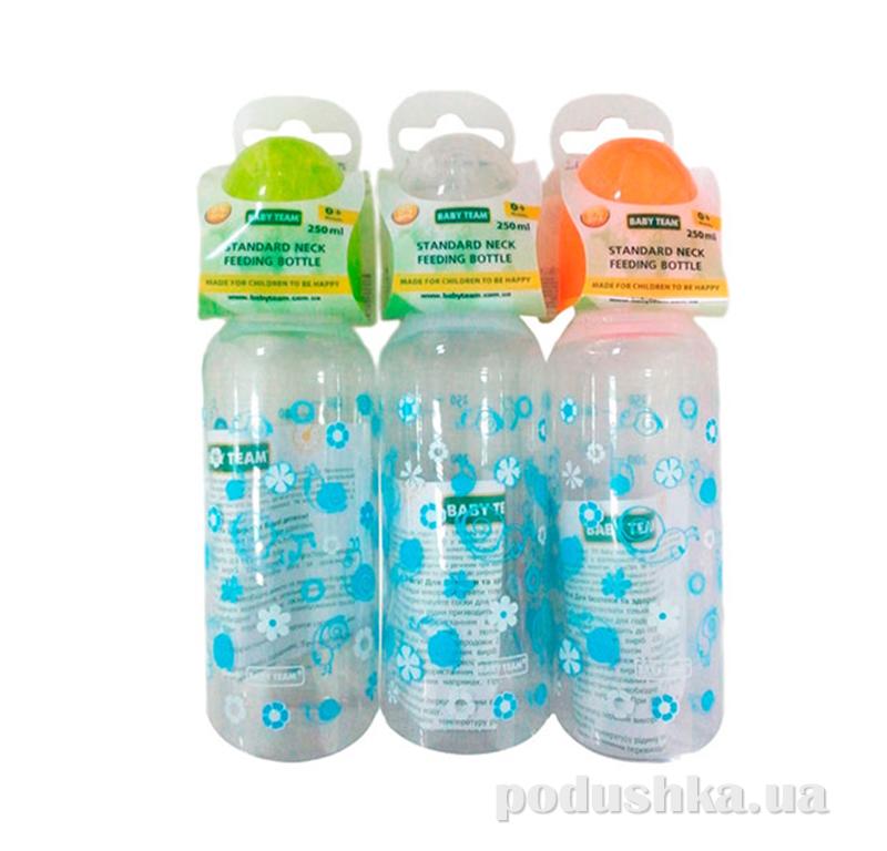 Бутылочка для кормления стандартная, 250 мл Baby Team AKT-1105