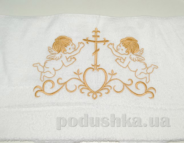 Крыжма для малыша Nostra белый-золото 70х140 см  Nostra