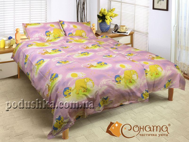 Постельное белье Слоники (для детской кроватки)