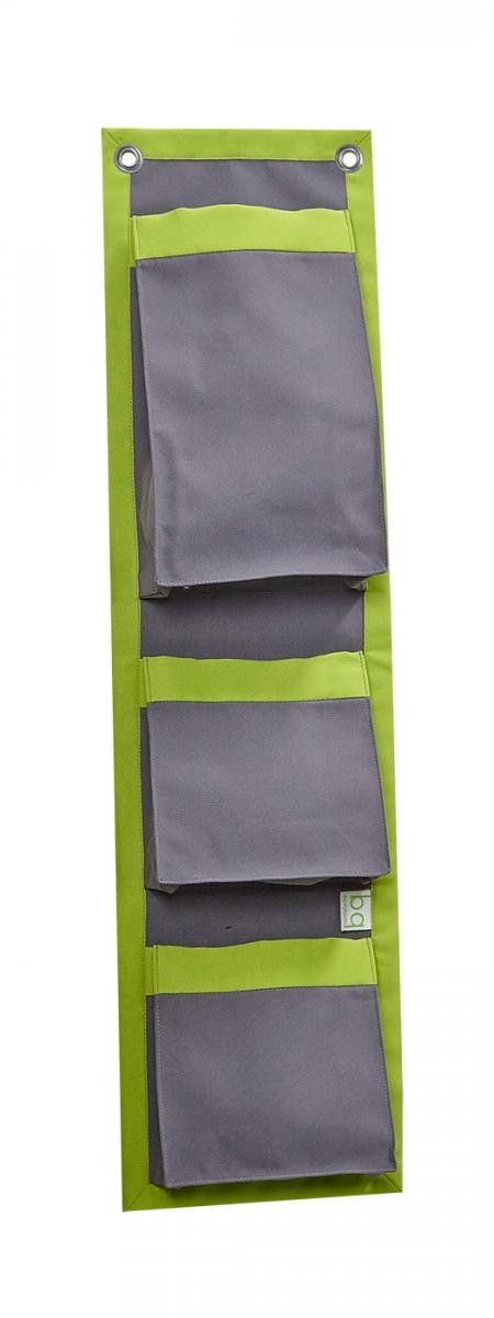Органайзер для одежды и нижнего белья bq-style темно - серый с салатовым 11-100104