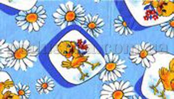 Постельное белье в кроватку Шуйские ситцы Цыпа голубая ситец