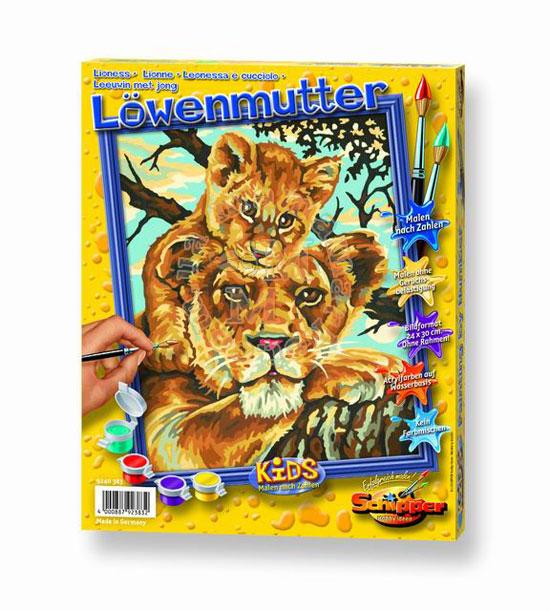 Художественный творческий набор Львица с львенком