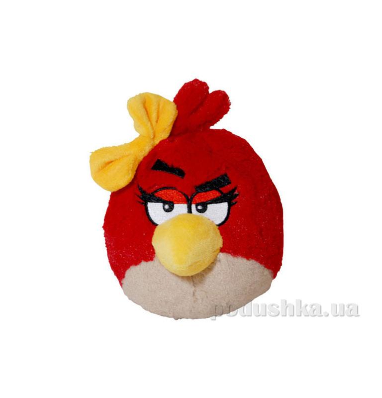 Мягкая игрушка Angry Birds птичка девочка-красная 92055