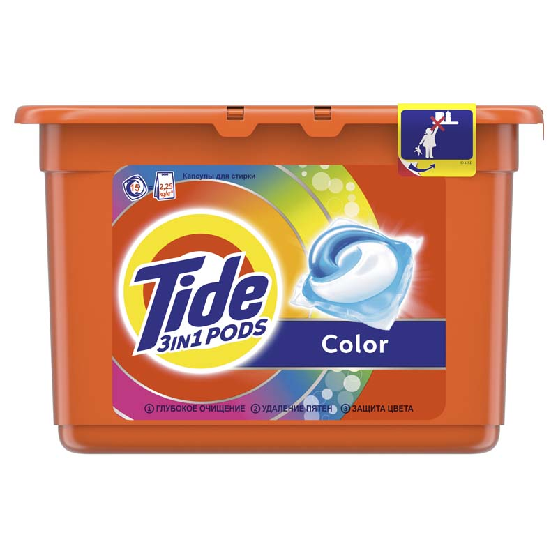 Капсулы для стирки Tide Color 15 шт Автомат