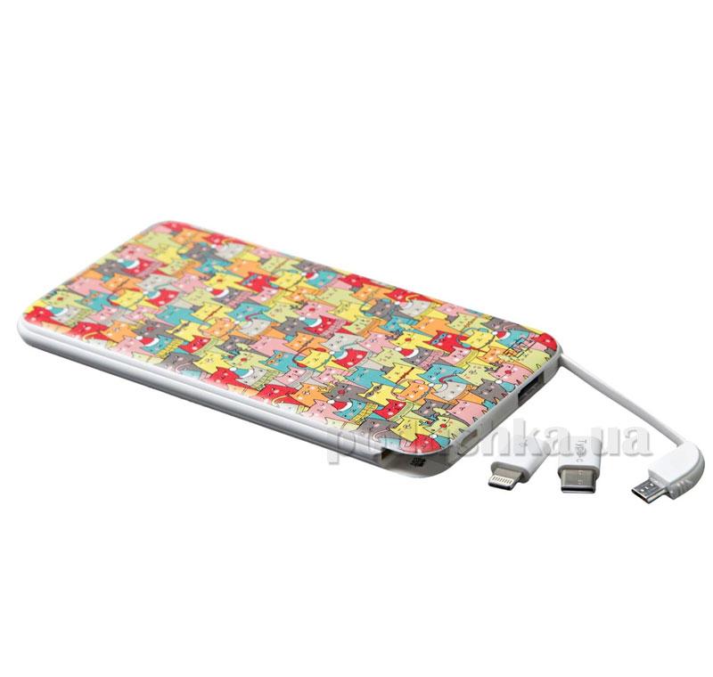 Повербанк ZIZ Зимние коты 44005 разноцветный