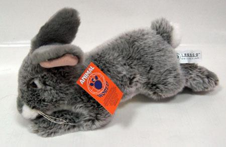 Лежачий серый кролик,23 см, L78007GR-AW
