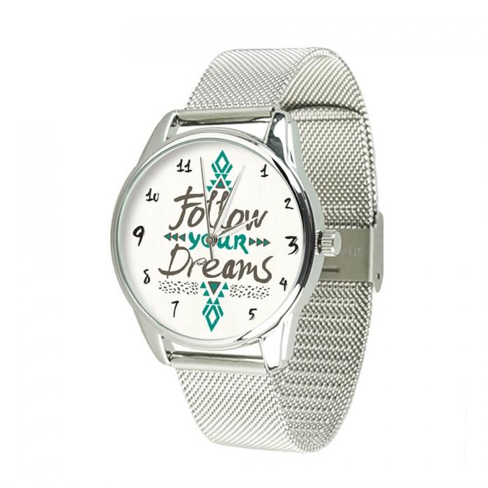 Часы ZIZ За своей мечтой серебро - второй ремешок в подарок 5009888