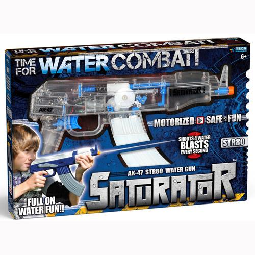 Водный автомат - АК-47 - STR 80 (моторизованный, прозрачный)