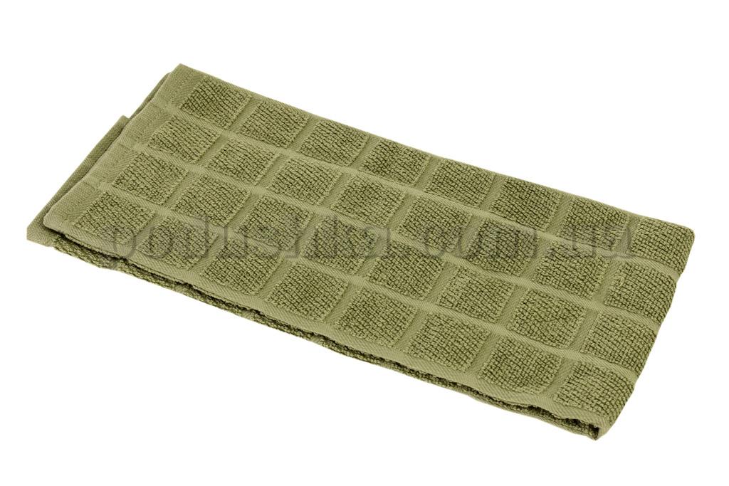 Полотенце кухонное Maisonette Kitchen Style-130 Квадраты темно-зеленое