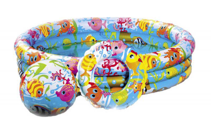 Бассейн надувной Intex 59469 с принтом Рыбки