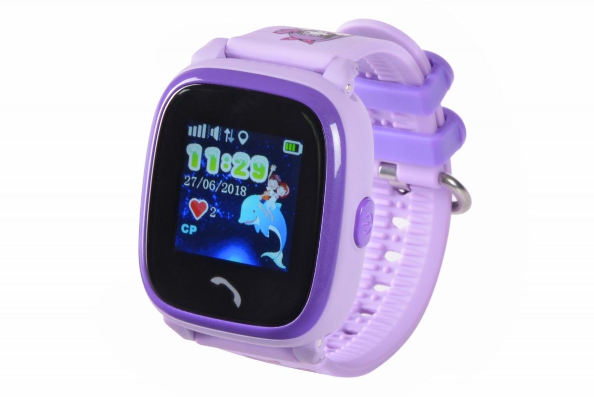 Детские телефон-часы с GPS трекером GoGPS me K25 Пурпурные K25PR ... 384122fb21f57