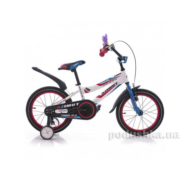 Велосипед Azimut Fiber 16 Бело-голубой   Azimut