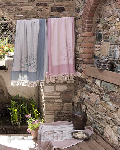 Полотенце для SPA Buldans Tomurcuk 100х180 см белый + голубой Buldans