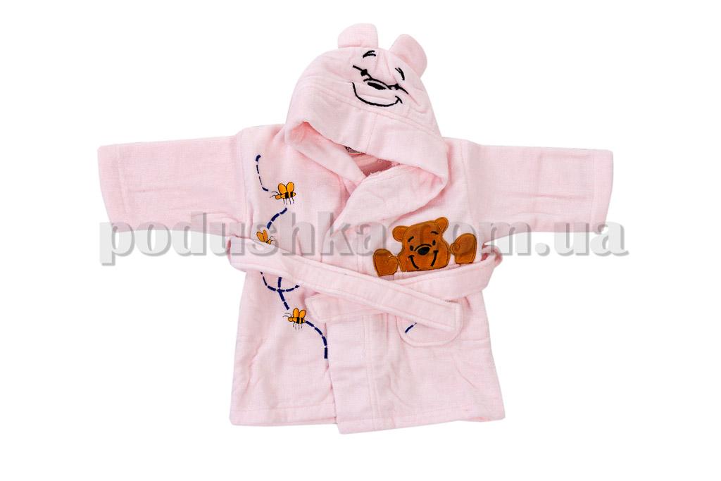 Халат детский махровый Maisonette Earflap розовый