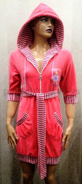 Халат женский короткий с капюшоном Nusa NS-00550
