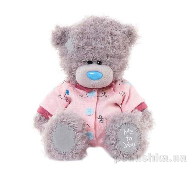 Carte blanche Мишка MTY 18 см в розовом комбинезоне G01W3323