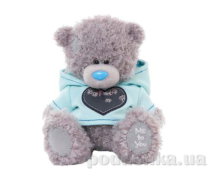 Carte blanche Мишка Teddy MTY в голубой толстовке 18 см G01W3268