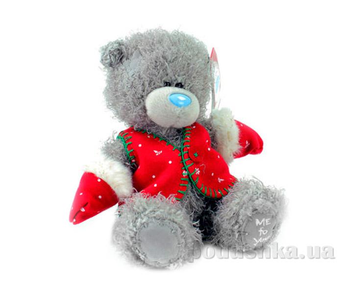 Carte blanche Мишка Teddy MTY в красной жилетке 18 см G01W3341