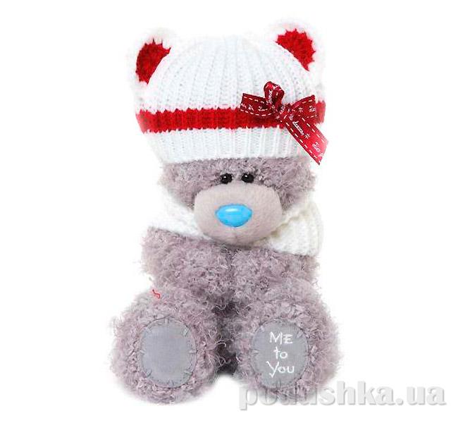 Carte blanche Мишка Teddy MTY в шапке с ушками 18 см G01W3299