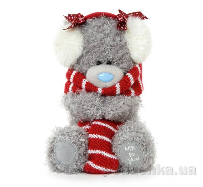 Carte blanche Мишка Teddy MTY в шарфе и наушниках 18 см G01W3304