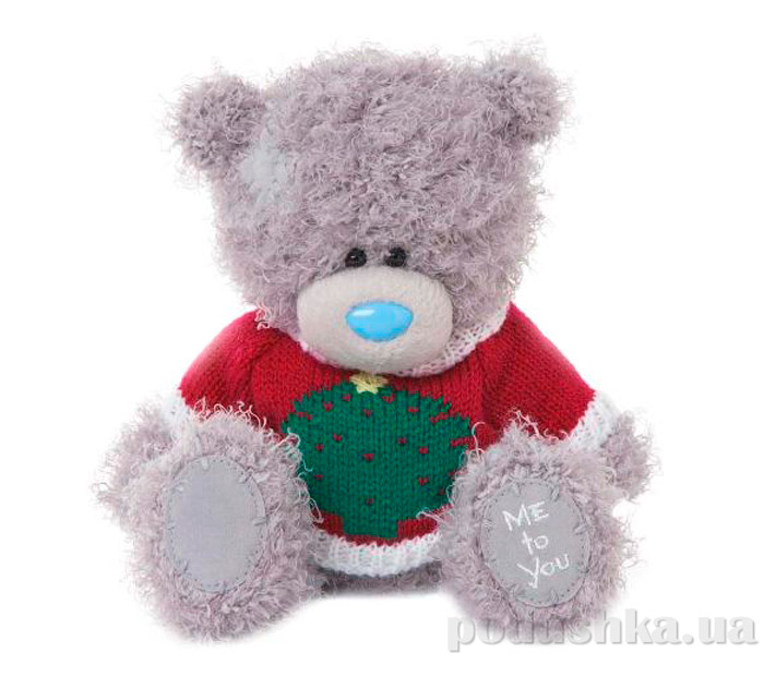 Carte blanche Мишка Teddy MTY в свитере с елкой 18 см G01W3329