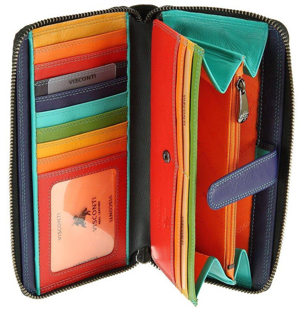 f0ff8ea848c5 Женский кожаный кошелек Visconti SP-33 - Iris black-multi купить в ...
