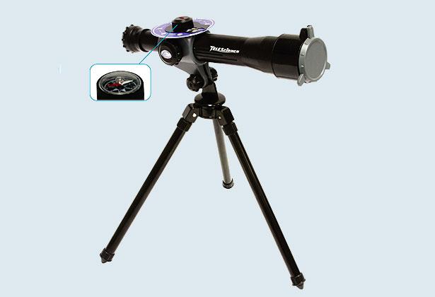 Телескоп со штативом 30х с компасом