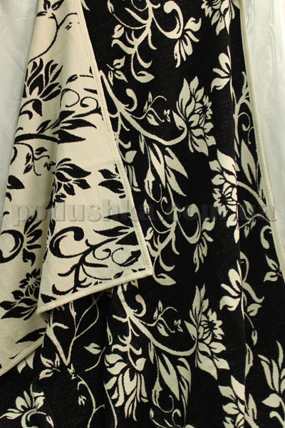 Покрывало шенилловое Klippan Saule 1811 черно-белое