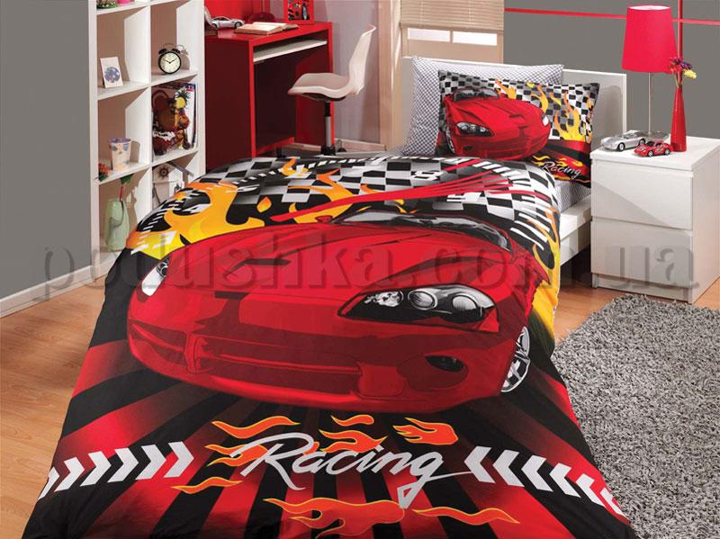 Постельное белье Hobby Car Racing красный