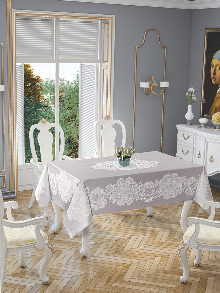 Скатерть Tropik home Royal Grey 5699-3
