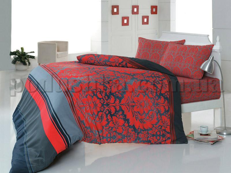 Постельное белье Romeo soft Damask красный