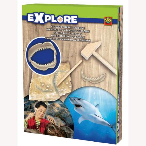 Набор серии Исследователь - Раскопки Челюстей Акулы (инструменты, окаменелости)